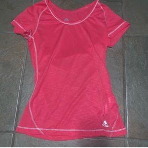 Adidas pink workout t-shirt